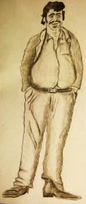 Pecker Dunne, dessin d'Hubert Thouroude
