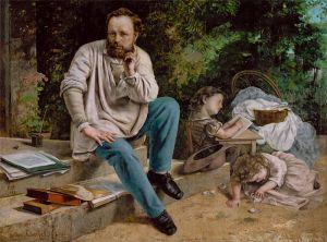 Courbet Proudhon et ses filles