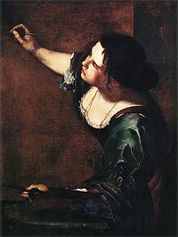 Artemisia Gentileschi, Autoportrait, 1630.