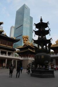 Le temple Jing An, Shanghai.