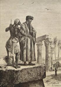 Ibn Battuta en Egypte, ill. de Léon Benett, dans un livre de Jules Verne, 1878.